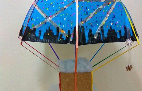 """תערוכת מטריות של תלמידי יוד- י""""ב מגמת אמנות"""
